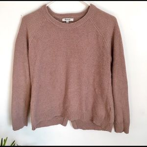 Madewell Camel crossover pullover sweater